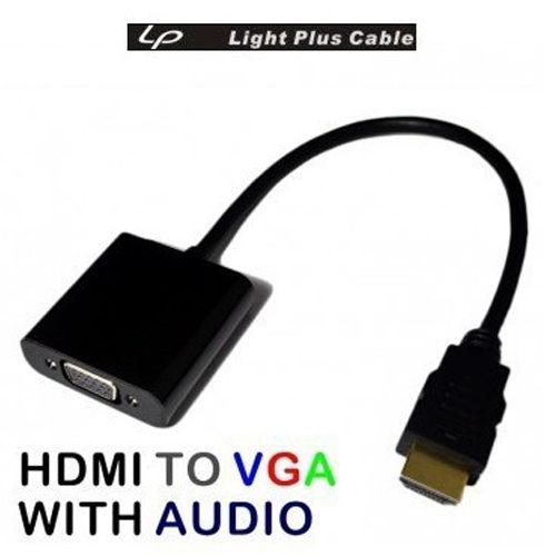 LPC-1805 HDMI TO VGA 免電源轉換線(10公分) 含音效 轉接線