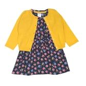 Carter s卡特 針織薄外套+短袖洋裝+套裝三件組 黃色 | 女寶寶 | 北投之家童裝【CA121G889】