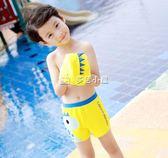 男童泳衣 兒童泳褲男童平角泳衣游泳衣帶帽寶寶泳衣男孩分體泳裝中大童 多色小屋