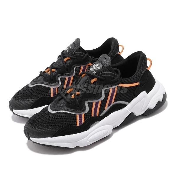 【四折特賣】adidas 休閒鞋 Ozweego 黑 紫 女鞋 運動鞋 老爹鞋 【ACS】 EH3219