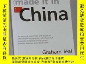 二手書博民逛書店英文原版罕見Made it in China by Simon