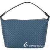 BOTTEGA VENETA Ciambrino 納帕小羊皮手工編織肩背包(藍) 1920103-16