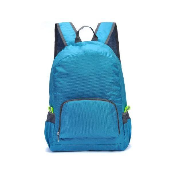 登山背包旅行戶外便攜折疊皮膚包男女登山後背背包學生兒童書包防水可印字 晶彩生活