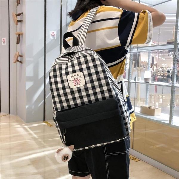 後背包女新款書包女韓版高中學生初中生小學生校園背包小清新  夏季新品