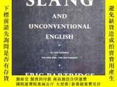 二手書博民逛書店A罕見Dictionary of Slang and Uncon
