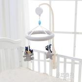 北歐嬰兒床鈴布藝音樂旋轉床頭玩具掛件0-6個月新生兒寶寶床頭鈴 【原本良品】
