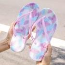 新防滑厚底人字夾腳拖鞋 女夏外穿時尚款夾腳夾板夾趾浴室沙灘涼拖 降價兩天