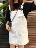 牛仔裙 流行裙子夏季韓版減齡洋氣法式百搭牛仔背帶短裙女學生潮 曼慕衣櫃
