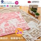 無捻紗*慵懶貓色紗毛巾(2條組) 【台灣興隆毛巾製】