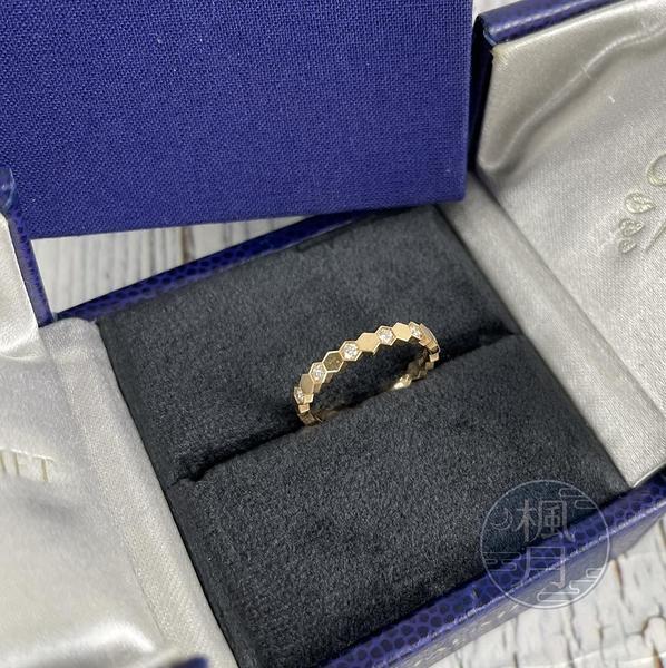 BRAND楓月 CHAUMET K18 玫瑰金 BEE MY LOVE 金鑽 間隔 戒指 1.6G 飾品 配件