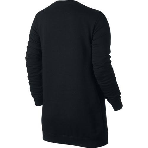 NIKE NSW CRW FLC BF GX2 女裝 長袖 上衣 休閒 舒適 黑 白 灰 【運動世界】 844722-010