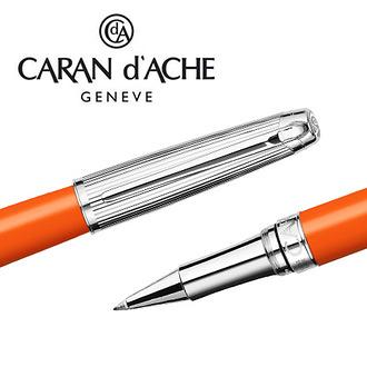 CARAN d'ACHE 瑞士卡達 LEMAN 利曼亮澄漆鋼珠筆(銀蓋) / 支