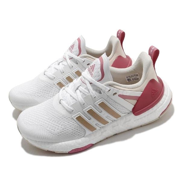 adidas 慢跑鞋 Equipment Plus 白 粉 女鞋 Boost 緩震中底 運動鞋 【ACS】 H02754