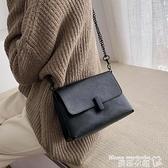 小方包 法國小眾包包女2021新款復古鎖扣鍊條小方包簡約百搭側背斜背小包 曼慕