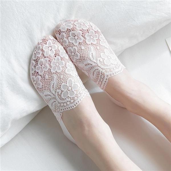襪子女韓國蕾絲隱形船襪硅膠防滑日系花邊可愛淺口短襪春夏季薄款