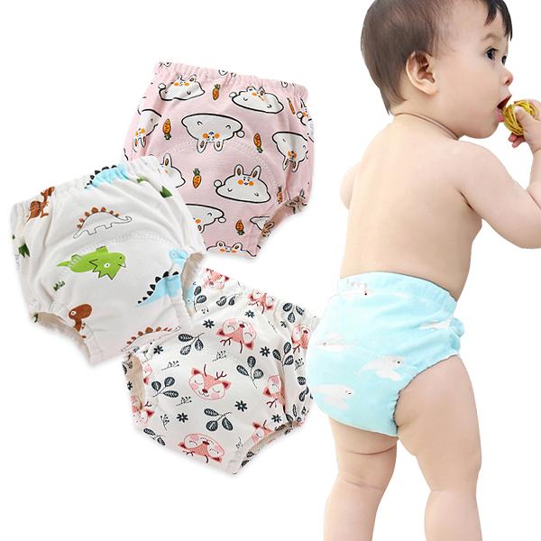 學習褲 6層紗嬰兒尿布褲 吸水隔尿褲訓練褲 -321寶貝屋