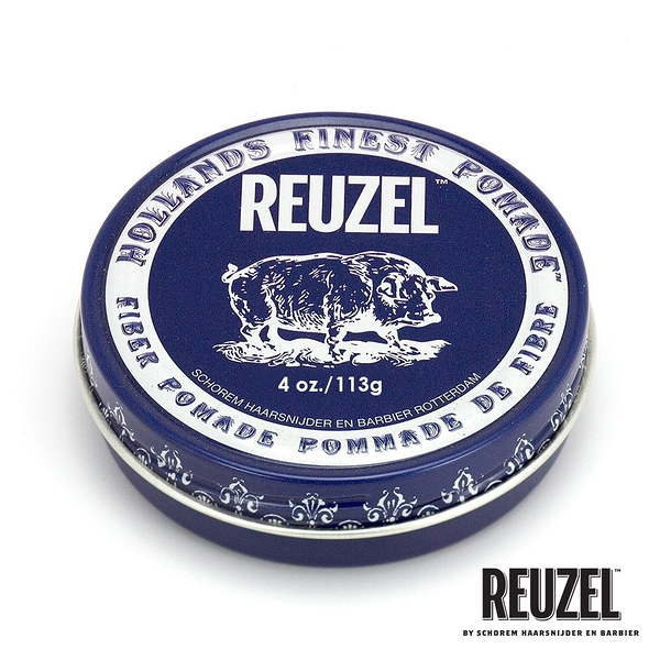 REUZEL Fiber Pomade 深藍豬強力纖維級水性髮泥 113g (原廠公司貨)【Emily 艾美麗】