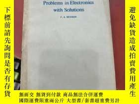二手書博民逛書店problems罕見in electronics with solutions(P3579)Y173412