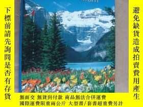 二手書博民逛書店Canadian罕見Rockies Photo Album 精裝