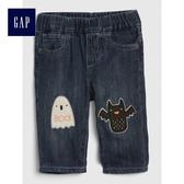 Gap男嬰兒 萬聖節系列時尚舒適牛仔長褲 489513-水洗深靛藍