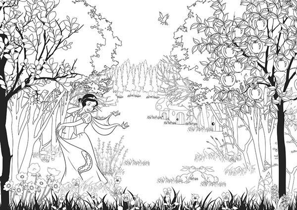 迪士尼經典童話著色:夢幻公主100