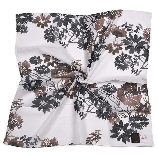 Sybilla水墨印花純綿帕領巾(黑白色)989164-109