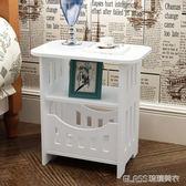 簡約床頭柜現代客廳儲物小柜子宿舍臥室簡易仿實木igo    琉璃美衣