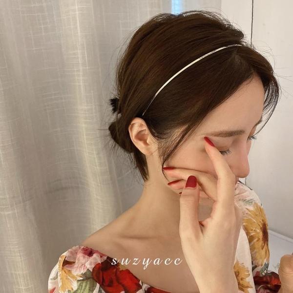 韓國東大門ins發飾品頭飾簡約超細金屬2020新款發捆發箍壓發頭箍 小時光生活館
