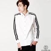 現貨黑白設計款長袖襯衫