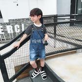 男童吊帶褲 童裝男童牛仔褲夏裝新款 兒童背帶褲寬鬆褲子潮 珍妮寶貝