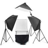 攝影棚套裝柔光箱拍攝台攝影燈拍照燈室內常亮補光燈道具器材  極客玩家  igo