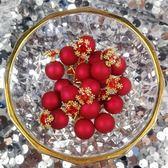 925銀針紅色珍珠耳釘女氣質韓國個性雪花鋯石耳環新年新款耳飾品  巴黎街頭