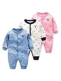 嬰兒秋裝薄款純棉男3外出哈衣6新生兒衣服女12個月寶寶連體衣春秋