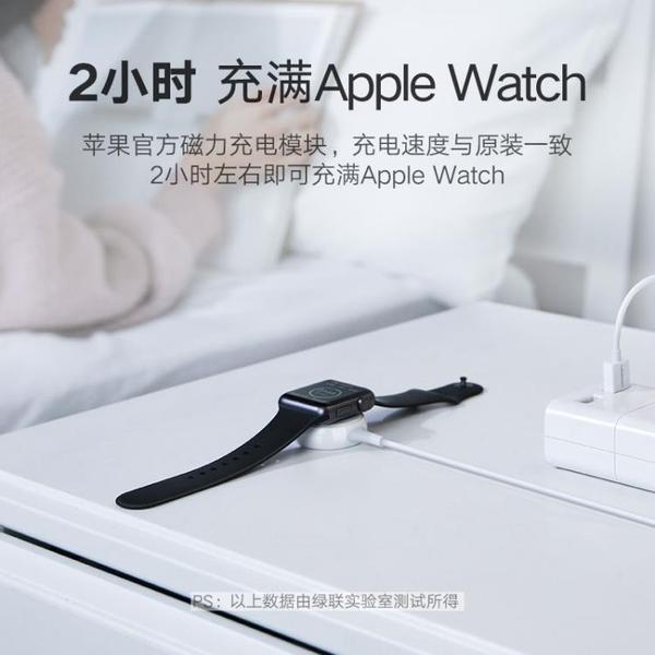 綠聯iwatch無線充電器mfi認證適用蘋果手表一1/2/3/4/5代專用快充apple watch