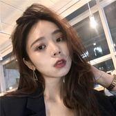 耳環   韓國氣質閃鉆鏤空幾何不對稱耳釘珍珠耳環耳墜E060