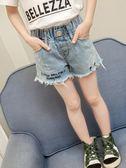 【春季上新】童裝女童春款牛仔洋氣短褲2019新款韓版兒童春季短褲中大童褲子