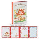 〔小禮堂〕Sanrio大集合 日製方型自黏便利貼本《白紅》便條紙.N次貼.蘑菇市集系列 4901610-40992