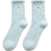 日系珊瑚絨襪子女冬季韓版加厚保暖成人睡眠地板襪加絨可愛月子襪