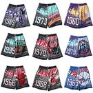 MITCHELL & NESS M&N 球褲 短褲 NBA 復古 潑漆 塗鴉 男 (布魯克林) MN21ASH02-