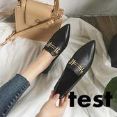 休閒鞋 尖頭女韓版淺口百搭軟底舒適平底鞋 艾米潮品館