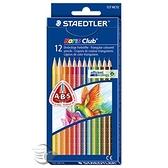 【金玉堂文具】施德樓 STAEDTLER MS127NC12快樂學園 三角舒寫油性色鉛筆 12色入/盒