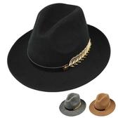 紳士帽 羊毛禮帽男潮青年秋冬英倫爵士帽韓版紳士帽時尚大檐黑色呢子禮帽 小宅女