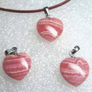 『晶鑽水晶』紅紋石(菱錳礦)心型墜子-超級正能量的愛情~送禮物-附鍊子