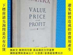 二手書博民逛書店VALUE罕見PRICE AND PROFIT 外文書Y285046 出版1947