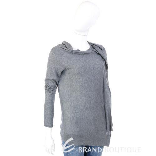 MARELLA 灰色抓褶造型長袖上衣 1230407-06