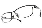 JAPONISM光學眼鏡 JP033 C04 (深藍-槍黑) 紳士流線設計款 平光鏡框 # 金橘眼鏡