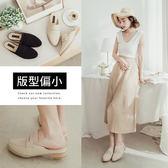 Ann'S簡簡單單-絨質素面穆勒鞋-米