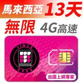 【TPHONE上網專家】馬來西亞 無限4G高速上網卡 13天 不降速