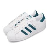 adidas 休閒鞋 Superstar W 白 綠 女鞋 運動鞋 貝殼頭 【ACS】 EF9248