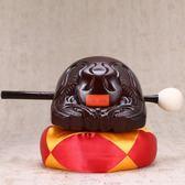 木魚 木魚法器純實木純手工一套5寸桂柚佛教寺廟佛具用品木魚道教法器 萬聖節